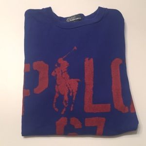 BOYS SIZE 8 (SM) POLO GRAPHIC LONG SLEEVE T-SHIRT